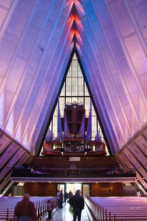 United States Air Force Academy: Chapel interior - Main Chapel