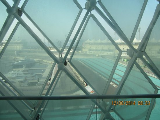 Yas Viceroy Abu Dhabi: Formula 1 track view from the room