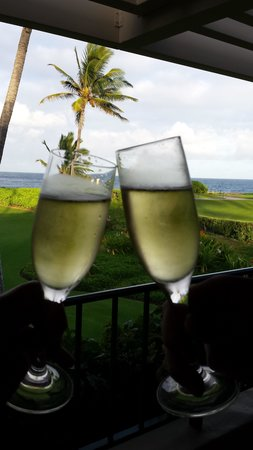 Grand Hyatt Kauai Resort & Spa: We told the staff it was our Honeymoon so left us a bottle of champagne in our room one night!