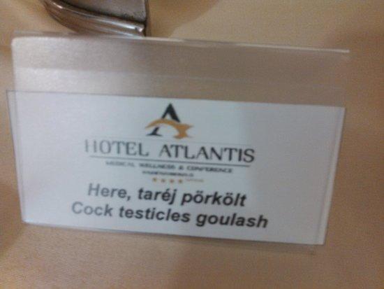 Hotel Atlantis : Did not eat This. lol