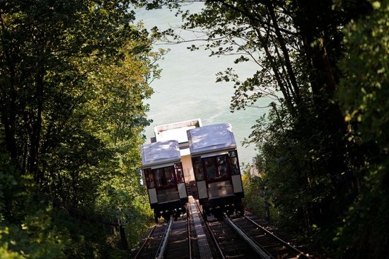 The Downs, Babbacombe: The wonderful Babbacombe Cliff Railway - the easier way to Oddicombe beach which is 5 minutes fr
