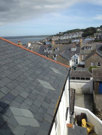 Tregony Guest House : Sea View from the non-en-suite room