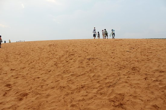 Red Sand Dunes: Walking into the sand dunes