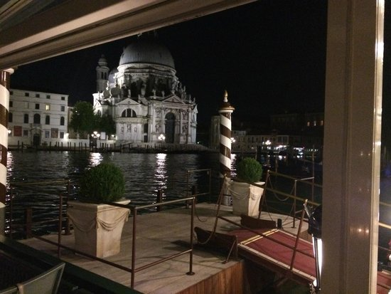 The Westin Europa & Regina, Venice: view from the bar deck at night