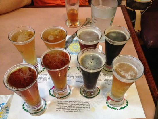 Church Brew Works: The eight brew sampler