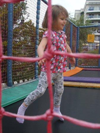 Butlin's Bognor Regis Resort: our happy wee one on the trampoline