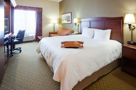 Hampton Inn Duluth: Standard King with City or Lake Views featuring work desk,  free WiFi, 32-inch LCD flat-sc
