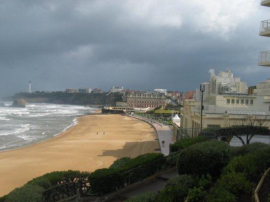 Rocher de la Vierge : Biarritz, la spiaggia ampia e fine
