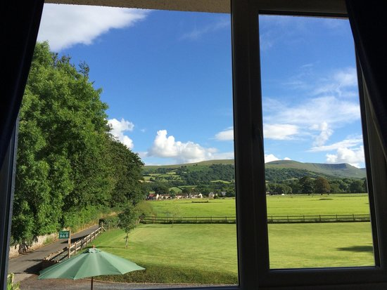 The Lodge Brecon B&B: View from room 3 - spectacular !