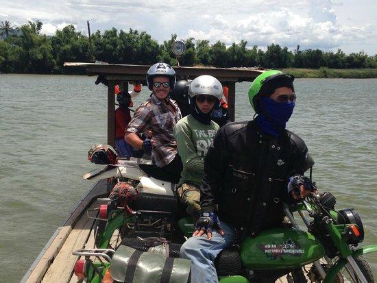 Hoi An Motorbike Adventures: River crossing