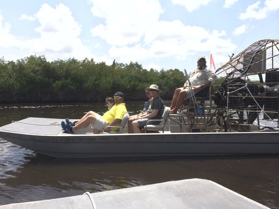 Captain Jack's Airboat Tours: Half of our family