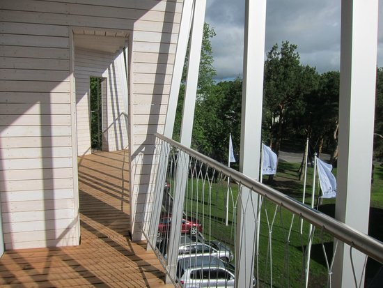 Hedon Spa & Hotel: The balcony of our room.