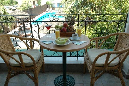 Santa Maura Studios & Apartments: pool view from the room