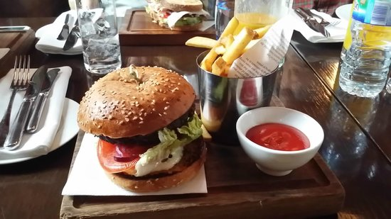 The Booking Office: Premium Burger and chips meal
