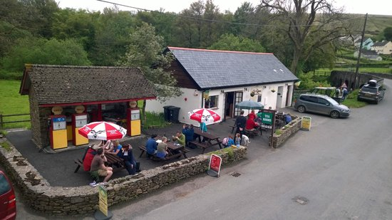 Withypool Tea Rooms: Customer enjoy Local Cider and Ales