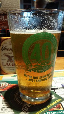 Quaker Steak & Lube: A local honey cream ale was the perfect paring to my wings and fried pickles