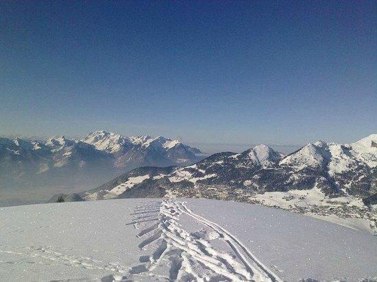 Villars-Gryon Ski Center: Vista de Villars