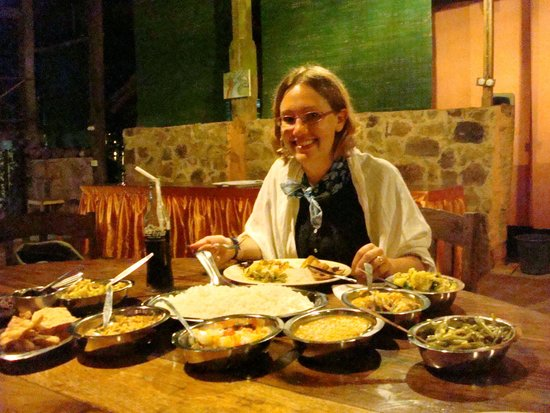 Rafters Retreat: all of this dinner for one person!  and it was all gorgeous!