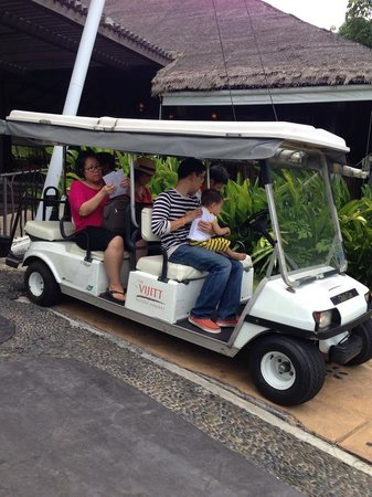 The Vijitt Resort Phuket: Shuttle golf cart service from the lobby to your room! If you don't want to walk. This resort is