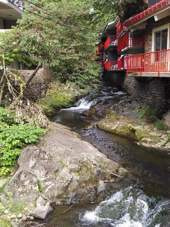 Zoders Inn & Suites: picture of the creek that the regular rooms over look.