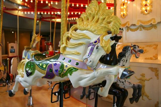 Burnaby Village Museum: Hand painted vintage carousel
