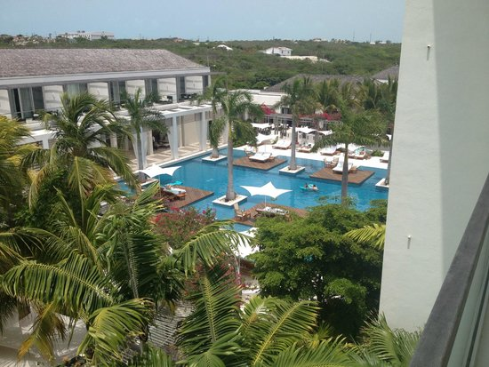 Gansevoort Turks + Caicos: View from upstairs pool area