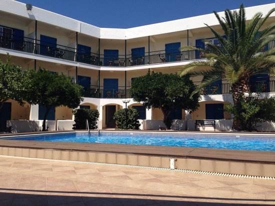 Hotel Danae: View from the beautiful swimming pool.