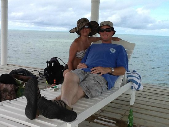 Hol Chan Reef Villas: Chillin on the dock