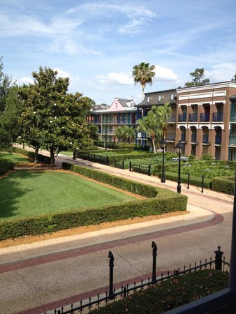 Disney's Port Orleans Resort - French Quarter: View of the resort from the balcony
