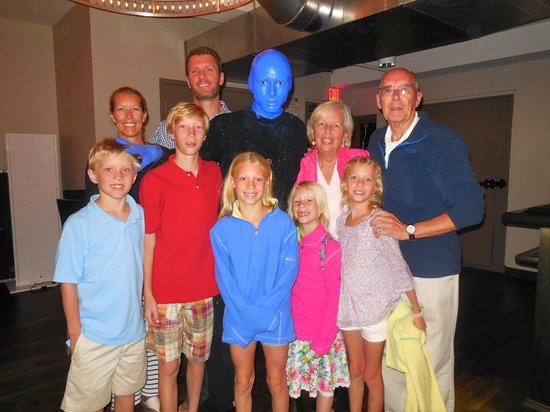 Blue Man Group: Meet the actors after the show.