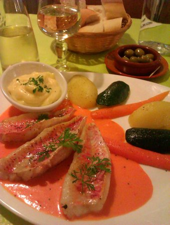 La Manne : Fish with carrots sauce