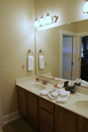 Seven Oaks Inn Bed and Breakfast: Private vanity for Blue Moon