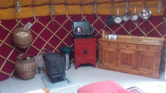 Yurtworks: inside 18ft yurt