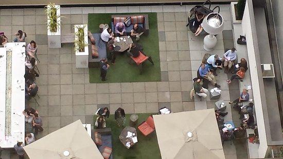 Motif Seattle: looking down onto Frolik patio