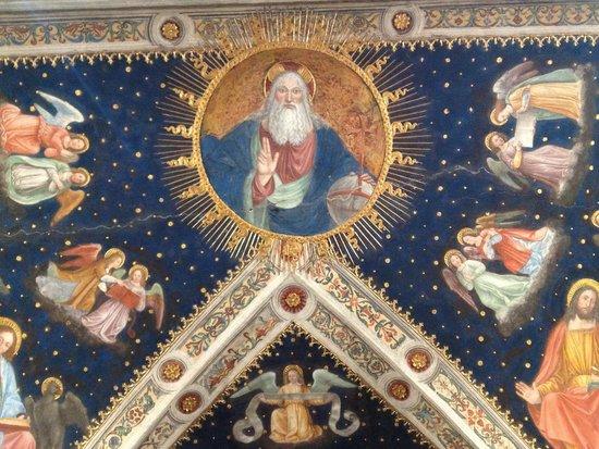 Chiesa di San Maurizio al Monastero Maggiore : techo de entrada parte trasera