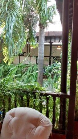 Centro Hotel : Área verde interna