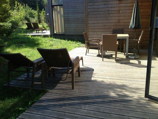Center Parcs - Domaine des Trois Forets : la terrasse...