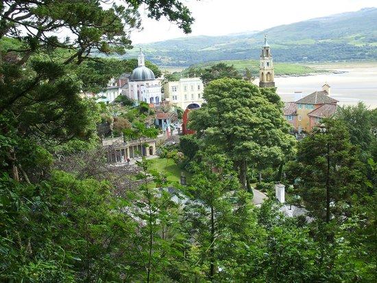 Portmeirion Village: View of the Village