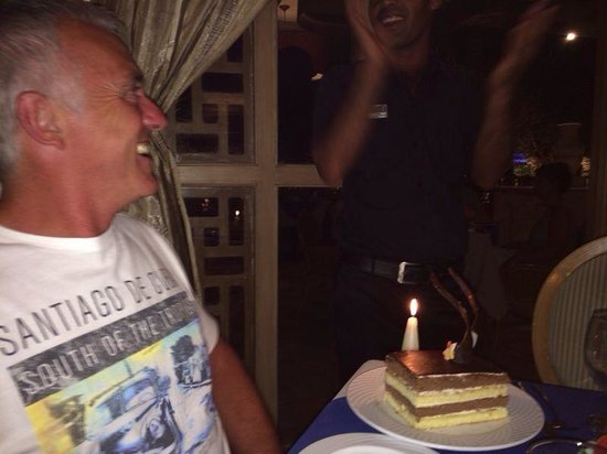 The Grand Hotel Sharm El Sheikh: Birthday treat at The Olive Tree restaurant