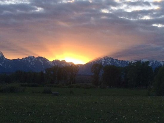 Sunset on Moose Head Ranch