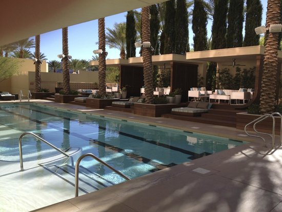 Red Rock Resort Spa Lap Pool With Cabanas