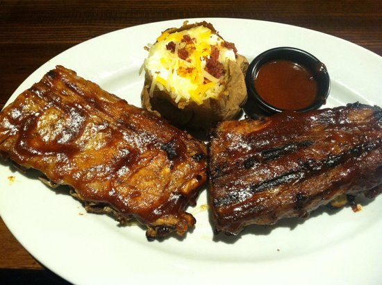 LongHorn Steakhouse: Baby Back Ribs & Loaded Potato
