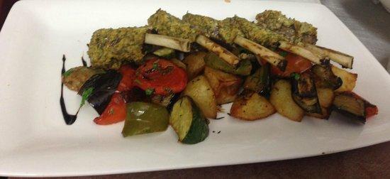 1904 Cafe: 1904 Mangonui: NZ Lamb w rosemary potatoes.
