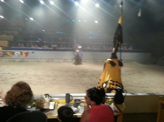 Medieval Times Dinner & Tournament: Yellow knight and blue night