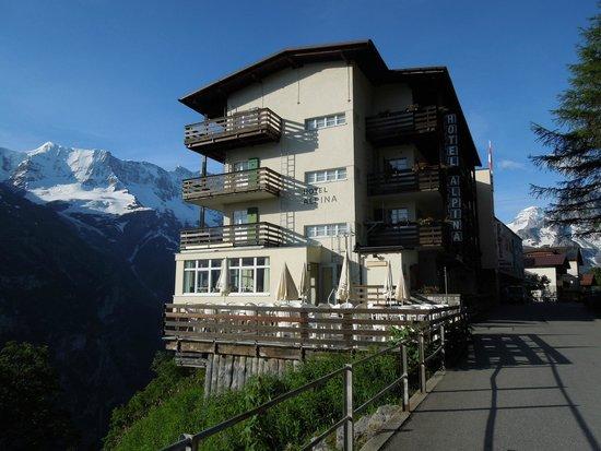 Exterior of Hotel Alpina