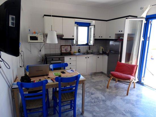 Villa Aliki: Living and kitchen Vila Aliki