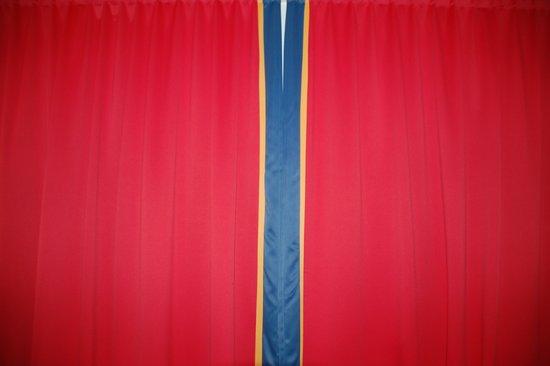 Scandic Karasjok : Sami flag as a curtain