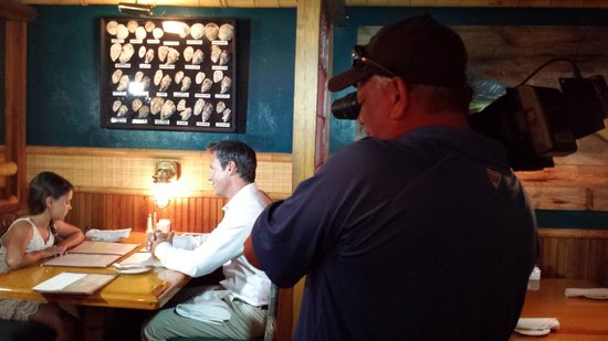 Timbers Restaurant and Fish Market: Filming Bass 2 Billfish