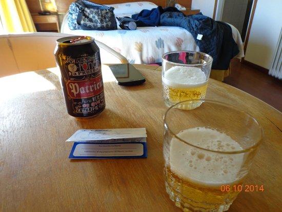 Oxford Hotel: Cervejinha na chegada