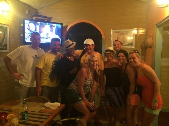 Emile's Sports Bar and Gril: Our Group with Junie